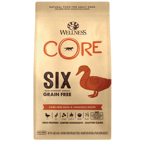 Wellness Core Six Duck & Chickpea Dry Dog Food