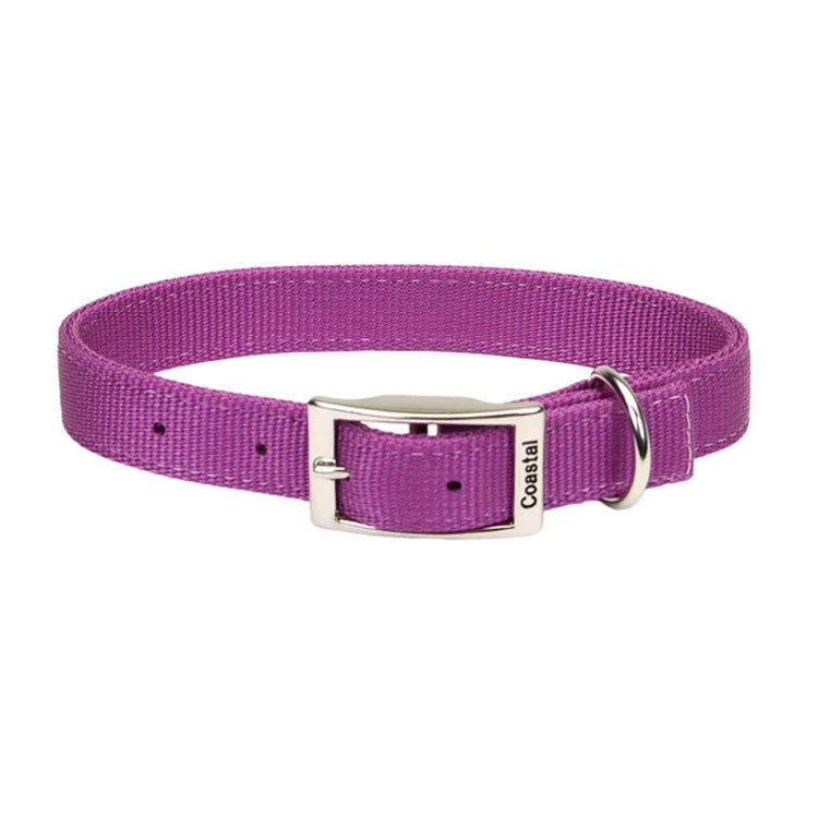 "Coastal Double Nylon Collar 18"" Orchid"
