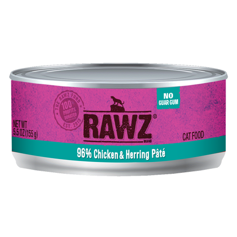 RAWZ 96% Chicken & Herring Pate Wet Cat Food