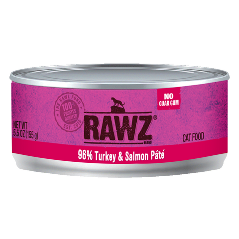 RAWZ 96% Turkey and Salmon Pate Wet Cat Food