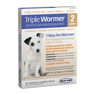 Durvet Triple Wormer for Puppies and Small Dogs 2 ct.