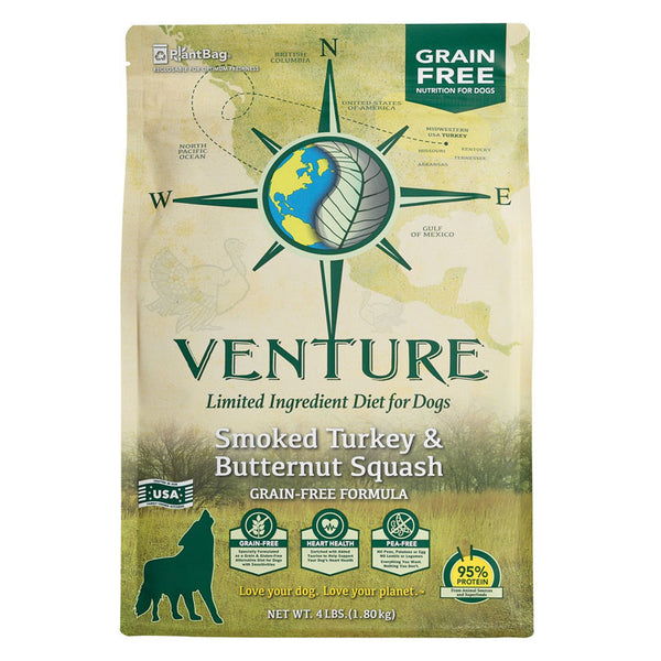 Earthborn Holistic Venture Grain Free Turkey Meal and Butternut Squash Dry Dog Food
