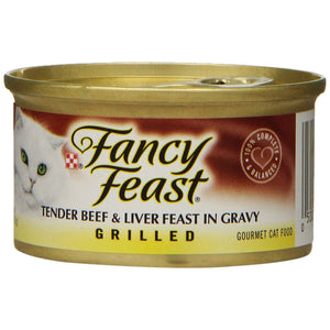 Fancy Feast Grilled Beef and Liver Feast Wet Cat Food
