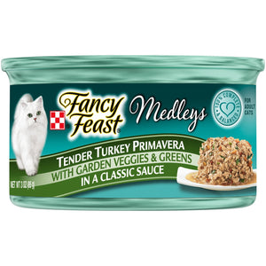 Fancy Feast Elegant Medleys Tender Turkey Primavera Wet Cat Food