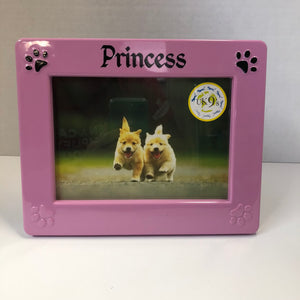 "Melamine Rectangle Picture Frame 5""x7"" Pink ""Princess"""