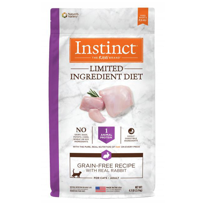 Nature's Variety Instinct LID Rabbit Dry Cat Food