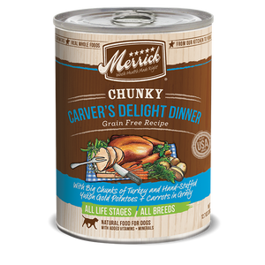 Merrick Chunky Carver's Delight Dinner Wet Dog Food