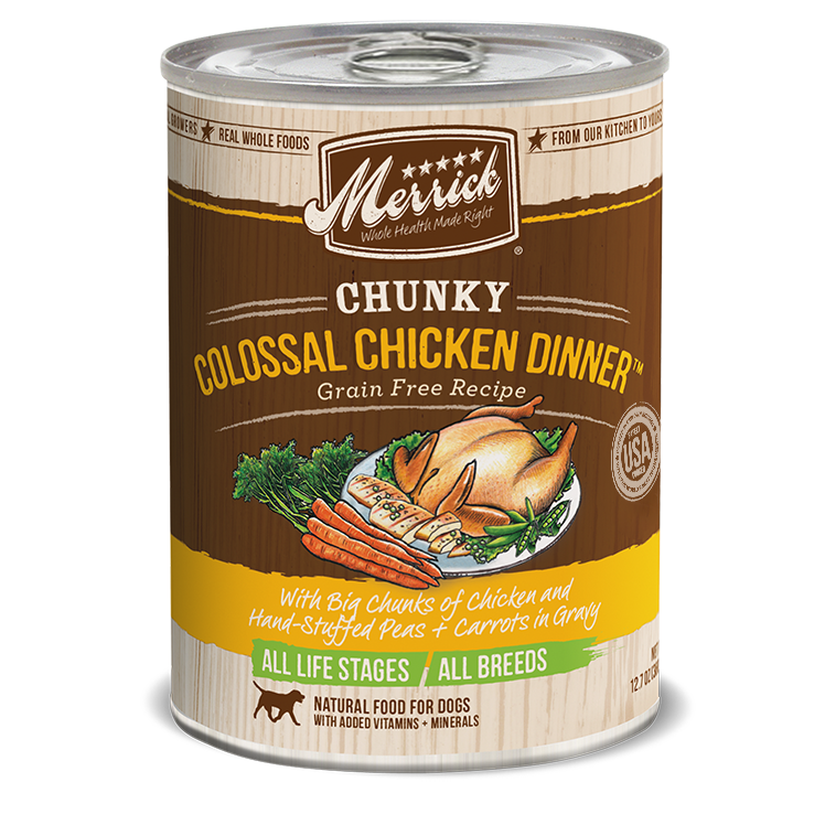 Merrick Chunky Colossal Chicken Dinner Wet Dog Food