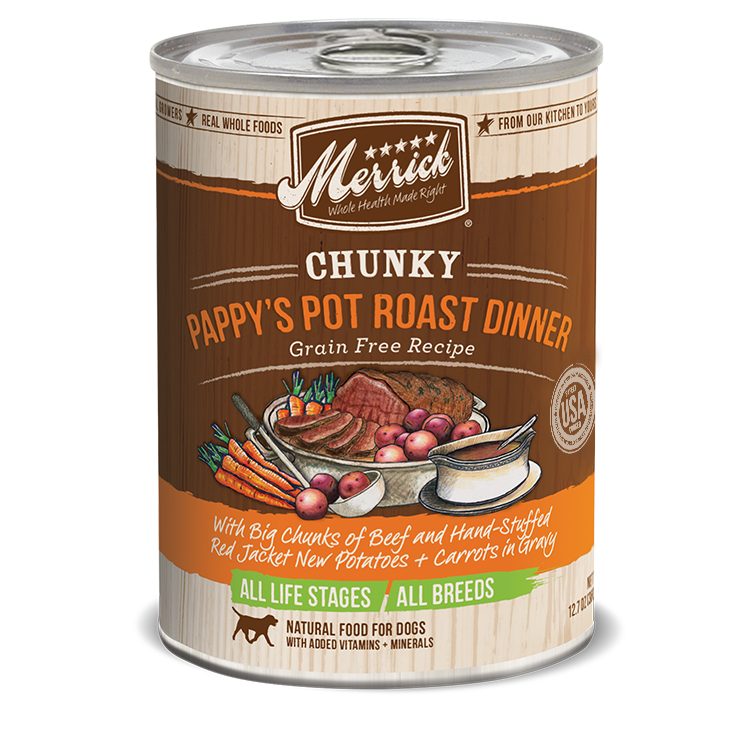 Merrick Chunky Pappy's Pot Roast Dinner Wet Dog Food