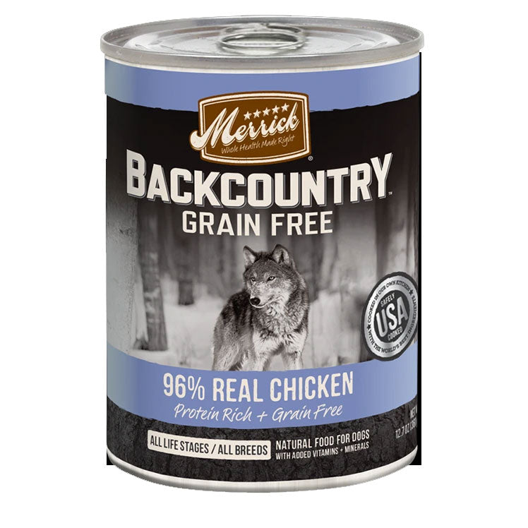 Merrick Backcountry 96% Real Chicken Wet Dog Food