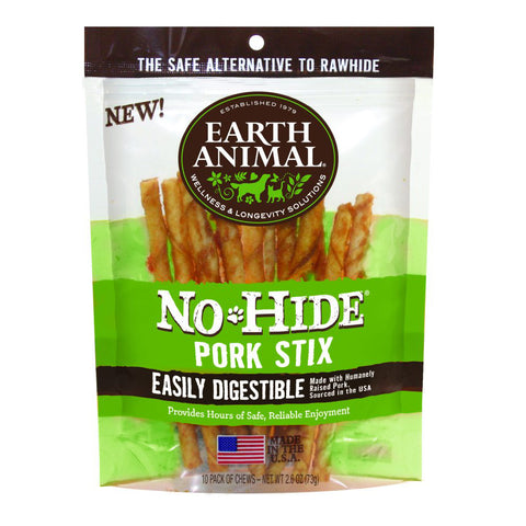 Earth Animal No-Hide Pork Stix 10 pack