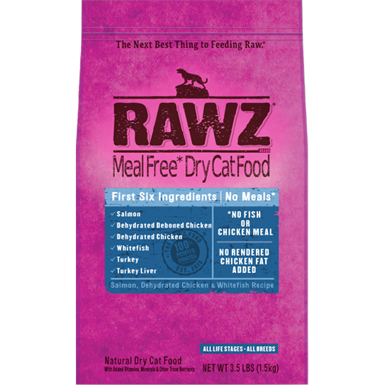 RAWZ Meal Free Salmon, Chicken, and Whitefish Dry Cat Food
