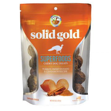 Solid Gold Superfoods Chewy Treats Turkey, Sweet Potato & Cinnamon Recipe