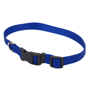 Coastal Adjustable Nylon Collar with Tuff Buckle Small Blue