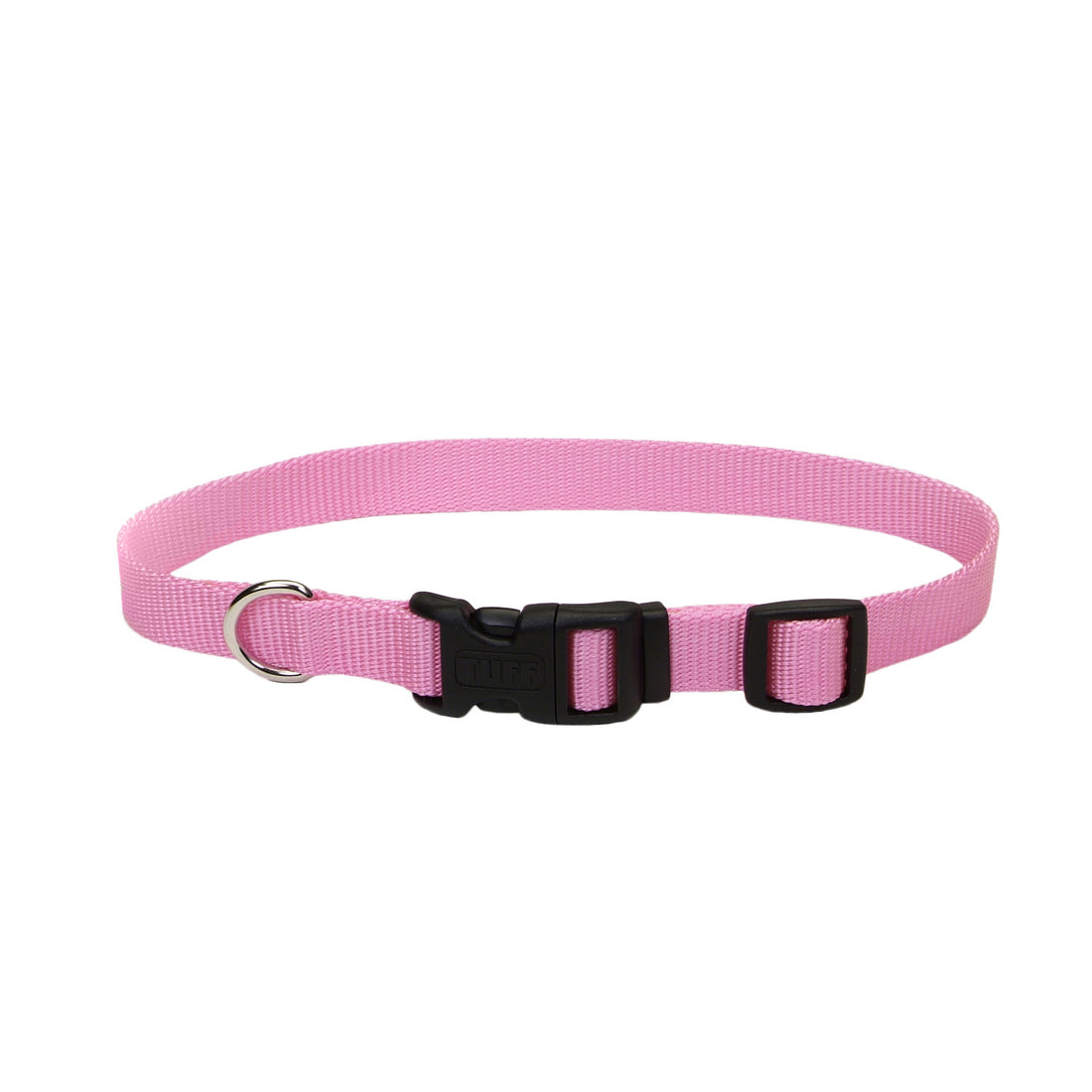 Coastal Adjustable Nylon Collar with Tuff Buckle Large Pink
