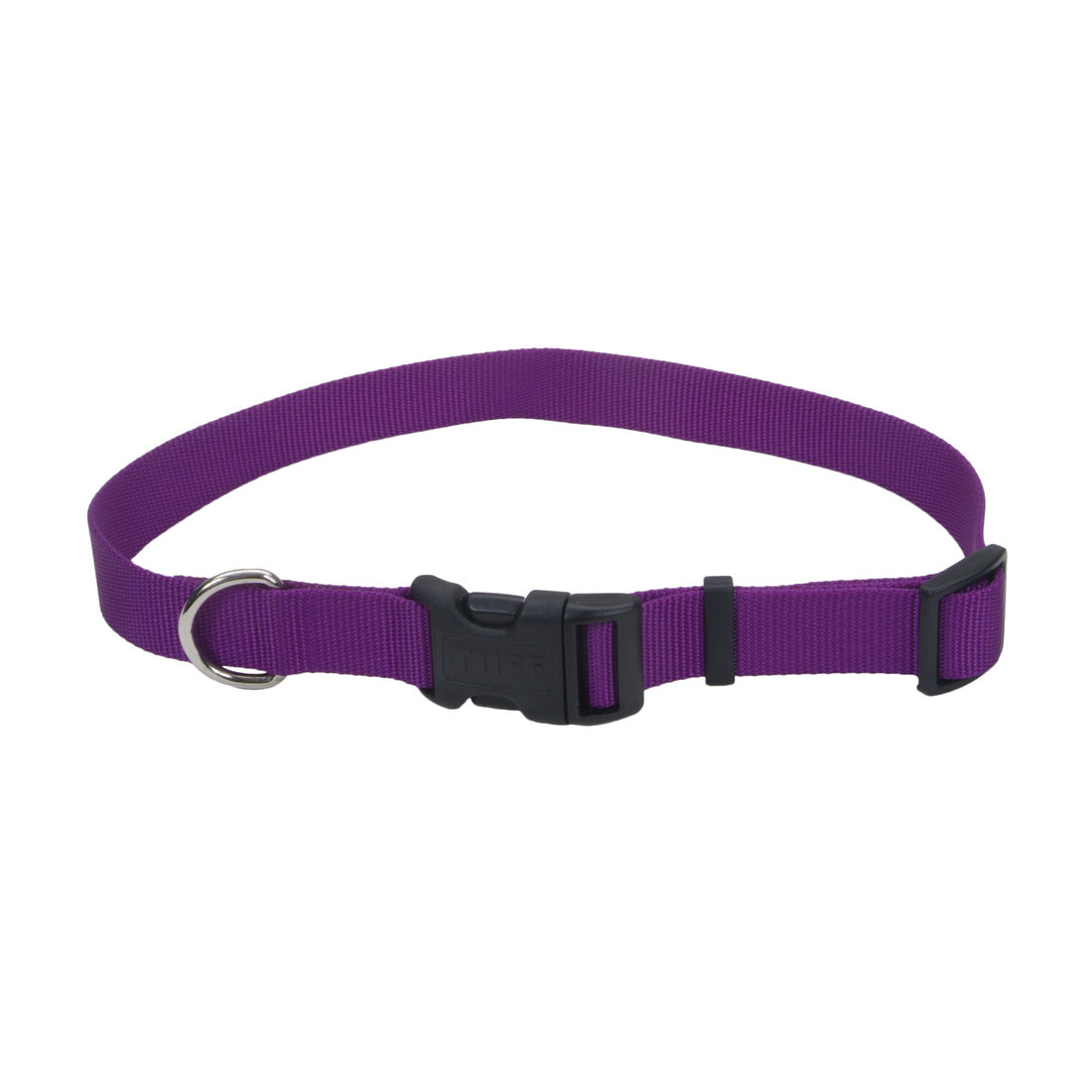 Coastal Adjustable Nylon Collar with Tuff Buckle Small Purple