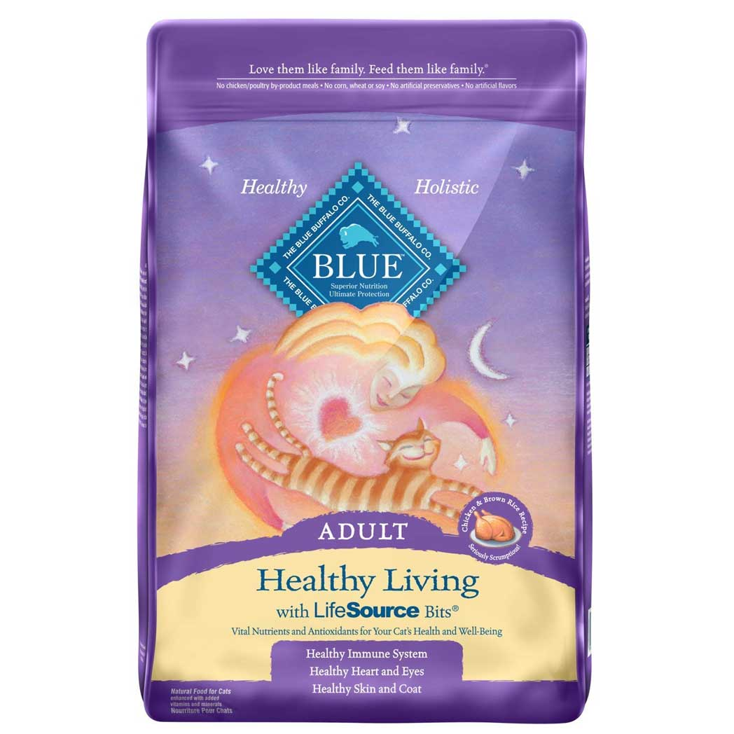 Blue Buffalo Healthy Living Adult Chicken & Brown Rice Recipe Dry Cat Food