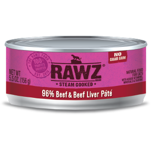 RAWZ 96% Beef and Liver Pate Wet Cat Food