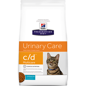 Hills Prescription Diet C/D Urinary Care Fish Dry Cat Food