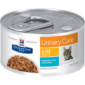 Hills Prescription Diet C/D Multicare Vegetables, Tuna & Rice Stew Wet Cat Food