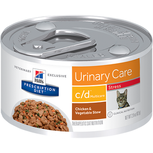 Hills Prescription Diet C/D Multicare Stress Chicken & Vegetable Stew Wet Cat Food