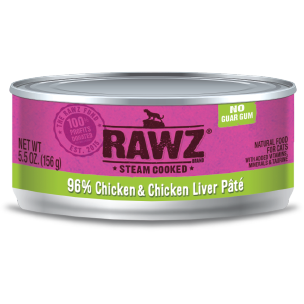 RAWZ 96% Chicken Liver Pate Wet Cat Food