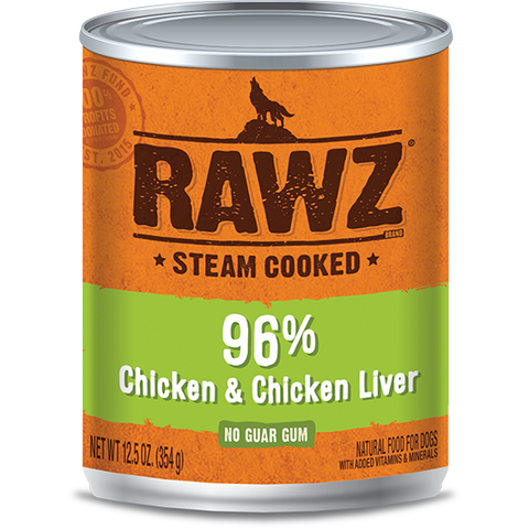 RAWZ 96% Chicken and Chicken Liver Wet Dog Food