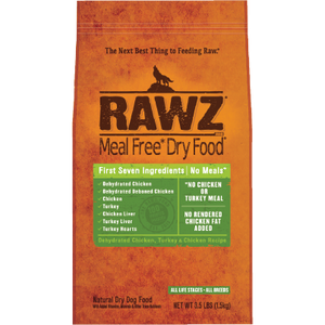 RAWZ Meal Free Dehydrated Chicken, Turkey, and Chicken Liver Dry Dog Food