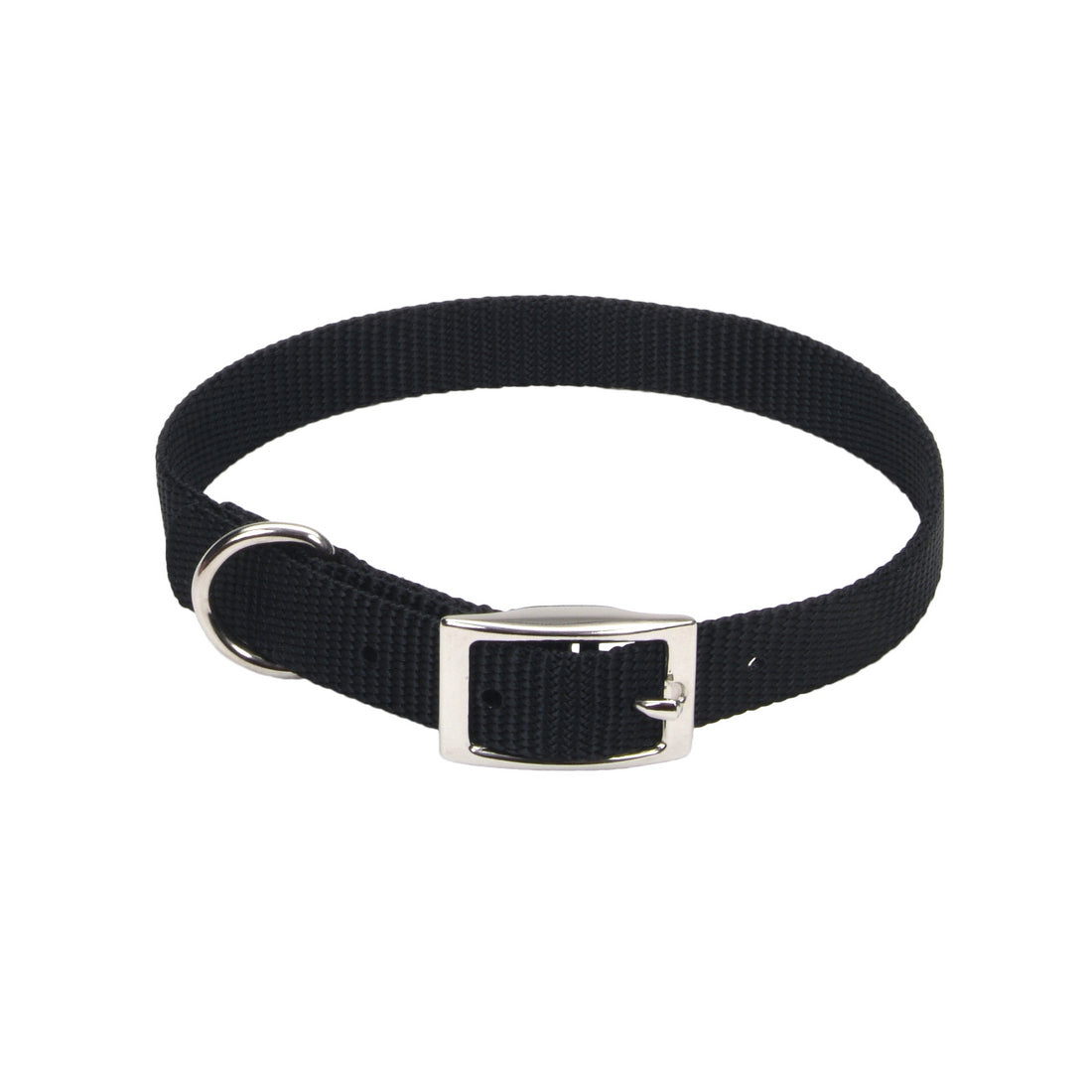 "Coastal Nylon Collar 16"" - 5/8"" Black"