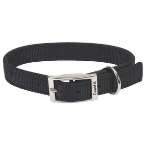 "Coastal Double Nylon Collar 20"" Black"