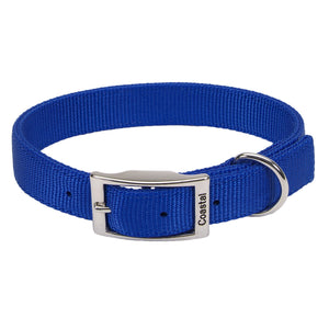 "Coastal Double Nylon Collar 20"" Blue"