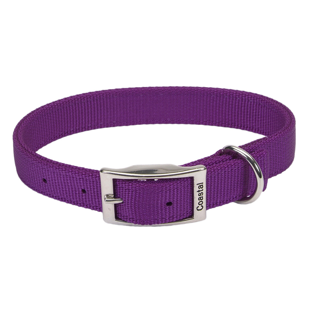 "Coastal Double Nylon Collar 20"" Purple"