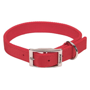 "Coastal Double Nylon Collar 28"" Red"