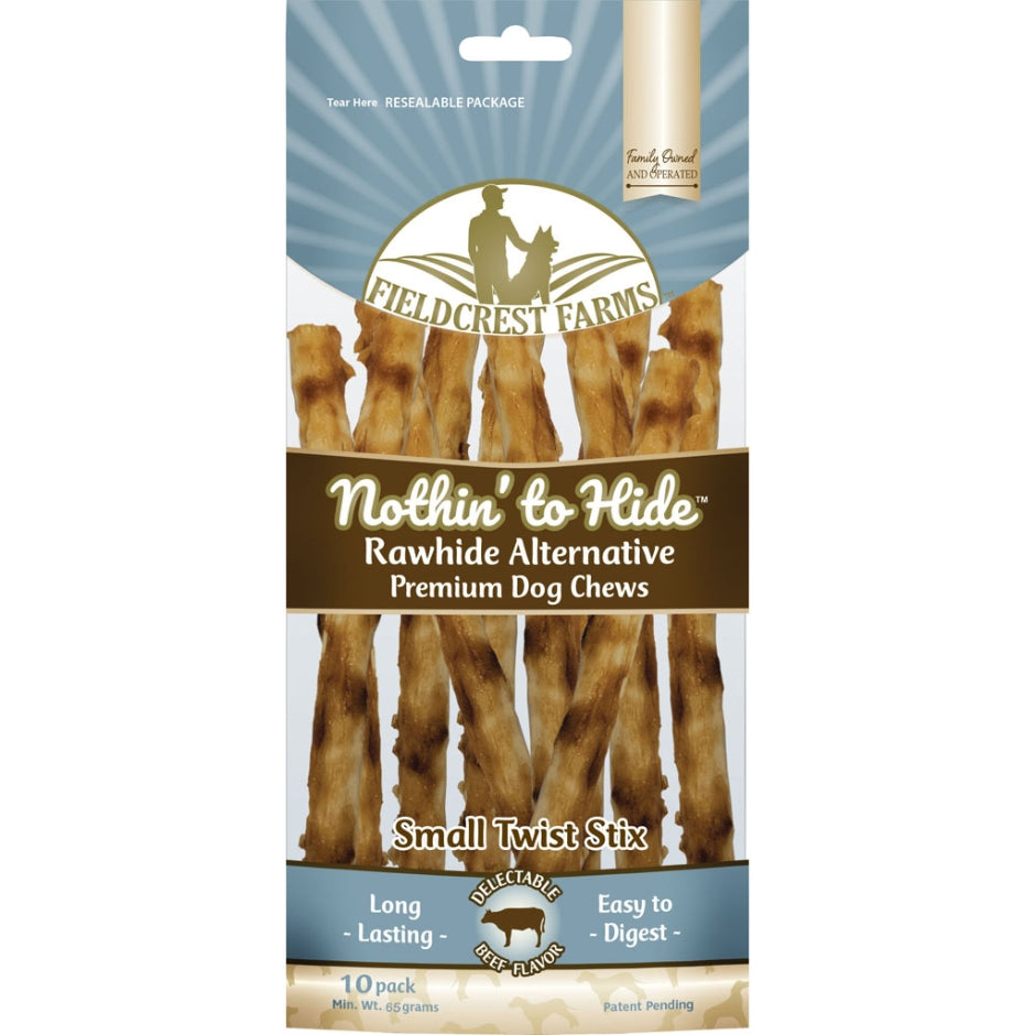 Fieldcrest Farms Nothin' to Hide Rawhide Alternative Beef Twists