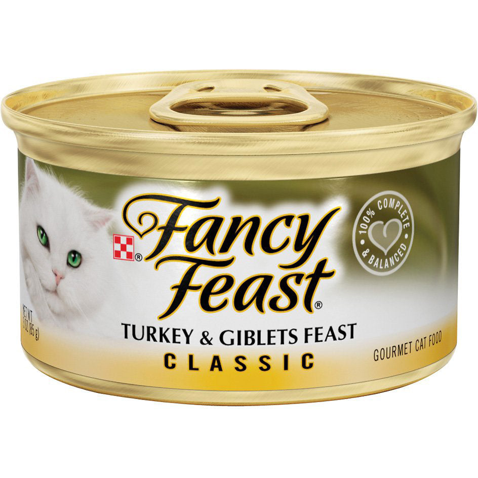Fancy Feast Classic Turkey & Giblets Feast Wet Cat Food
