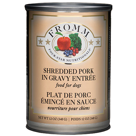 Fromm 4 Star Shredded Pork in Gravy Wet Dog Food