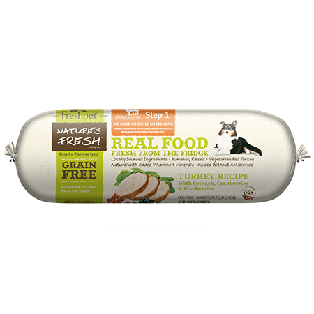 Freshpet 2 lb. Roll Nature's Fresh Grain Free Turkey, Spinach, Cranberry & Blueberry