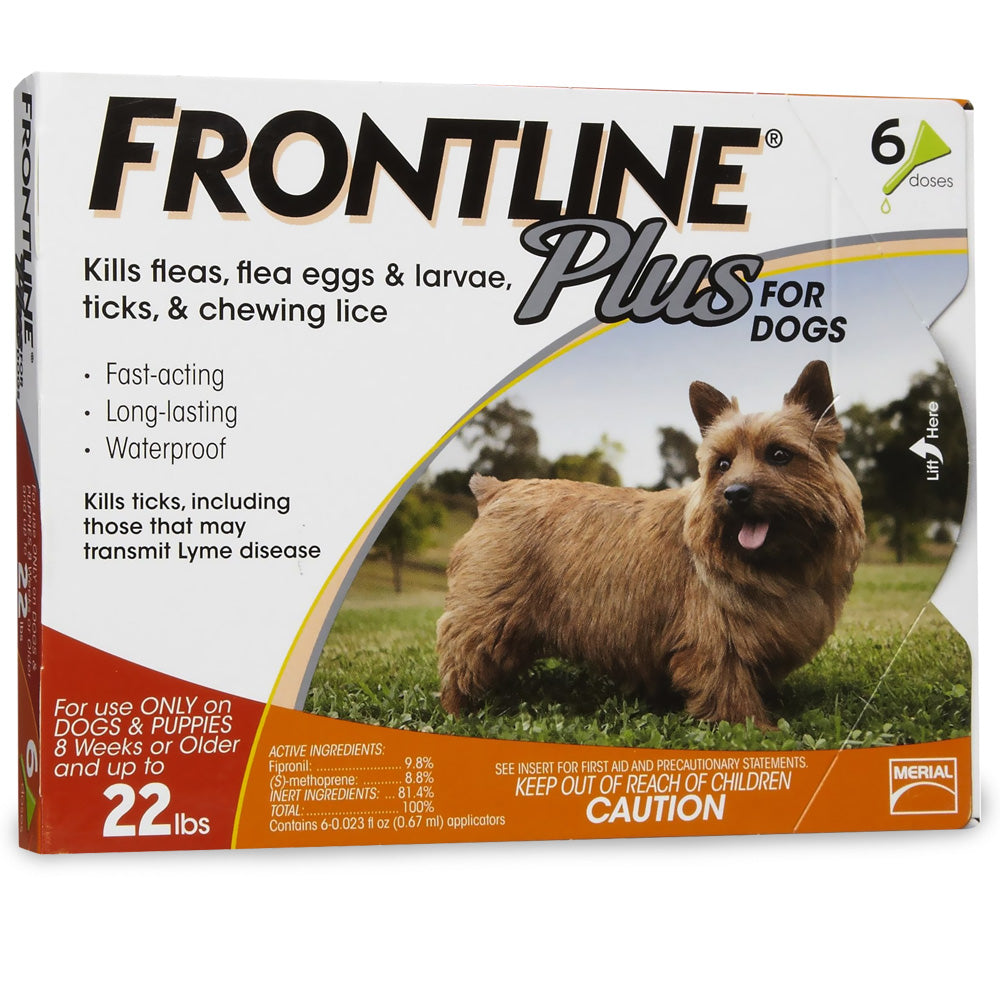 Frontline Plus for Dogs 0-22 lb. 6 month