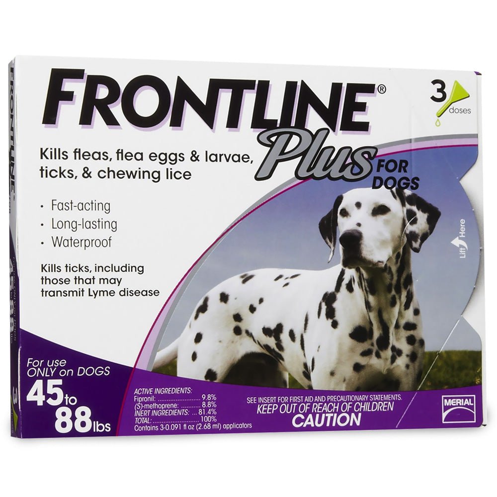Frontline Plus for Dogs 45-88 lb. 3 month