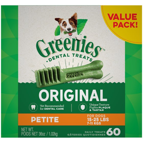 Greenies Petite (for dogs 15-25 lb.)