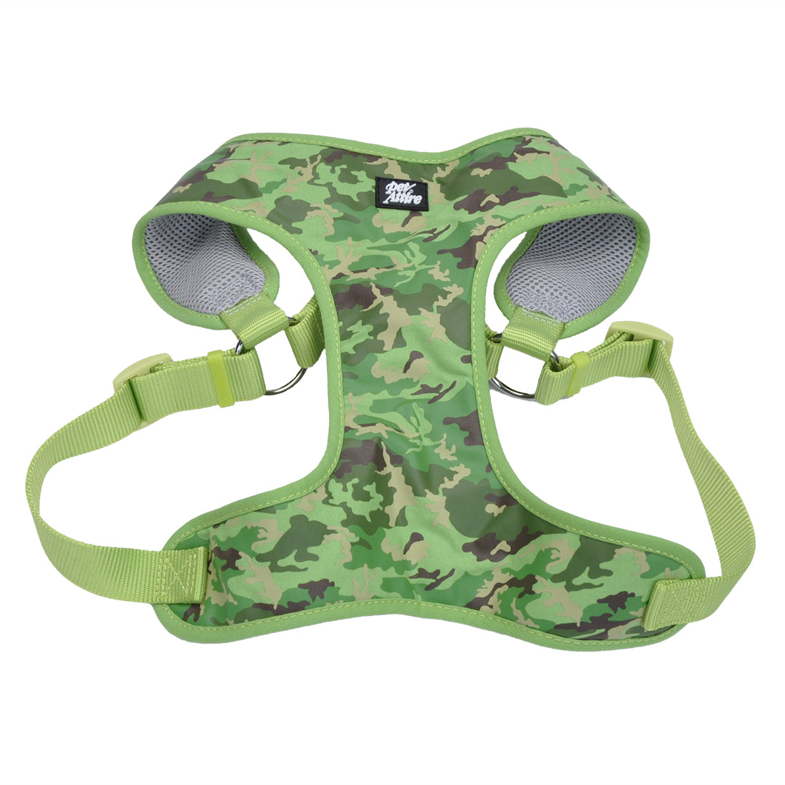 Coastal Pet Attire Ribbon Designer Wrap Harness Small Lime Camouflage
