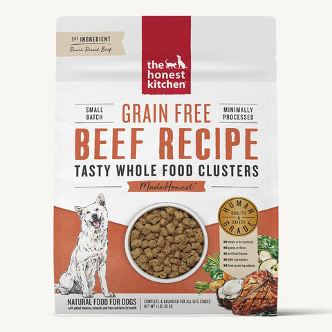 Honest Kitchen Whole Food Clusters Grain Free Beef Recipe