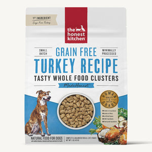 Honest Kitchen Whole Food Clusters Grain Free Turkey Recipe