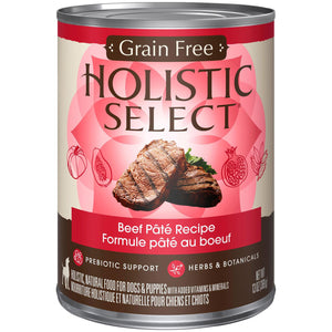 Holistic Select Grain Free Beef Wet Dog Food