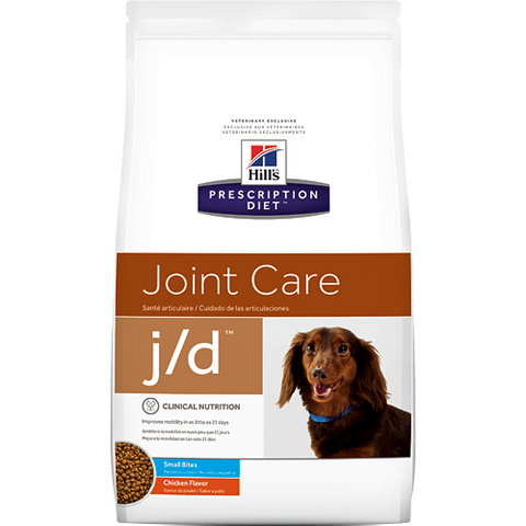 Hills Prescription Diet J/D Small Bites Chicken Dry Dog Food