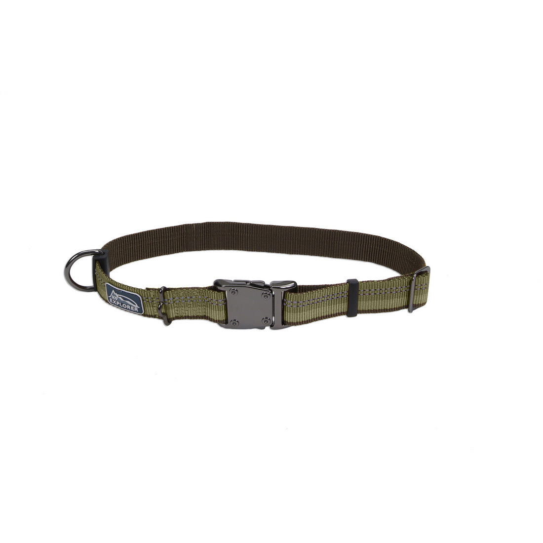 "Coastal K9 Explorer Reflective Collar 18"" - 1"" Fern"