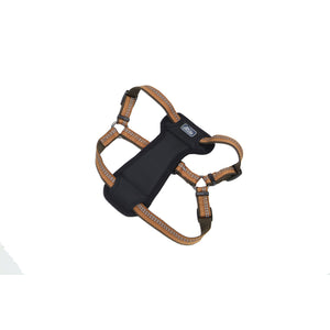 "Coastal K9 Explorer Reflective Padded Harness 30"" - 1"" Campfire Orange"