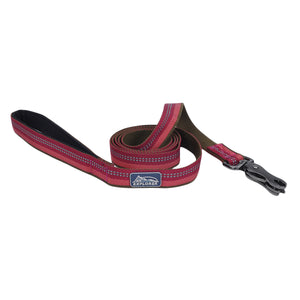 "Coastal K9 Explorer Reflective Leash 6' - 1"" Berry"