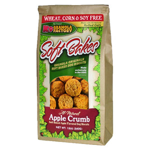 K9 Granols Factory Soft Bakes Apple Crumb Dog Treats available at The Hungry Puppy Pet Food and Supplies Farmingdale, New Jersey