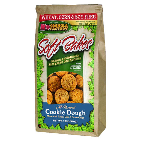 K9 Granols Factory Soft Bakes Cookie Dough Dog Treats available at The Hungry Puppy Pet Food and Supplies Farmingdale, New Jersey